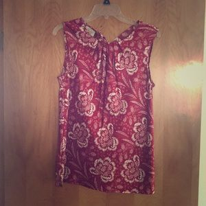 Talbots Tops - Talbots Silky Red Floral Tank